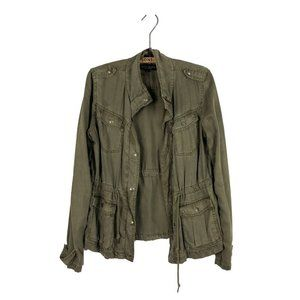 Max Jeans Tencel Olive Green Military Jacket